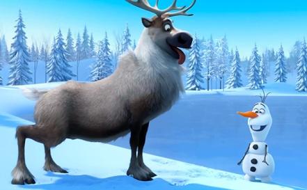 Frozen-Il-Regno-Di-Ghiaccio-Olaf-e-Sven